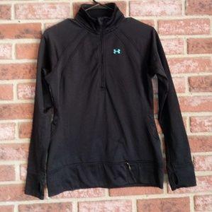 Under armour half zip pull over coldgear jacket